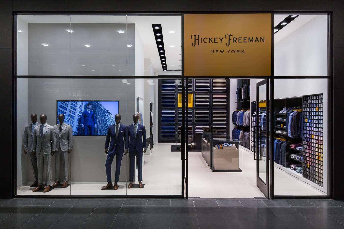 The front of the Madison Avenue Hickey Freeman Store