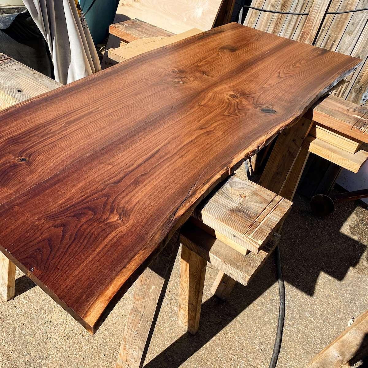 Black walnut live edge countertop