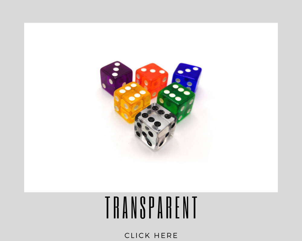 Corporate Transparent Custom Dice