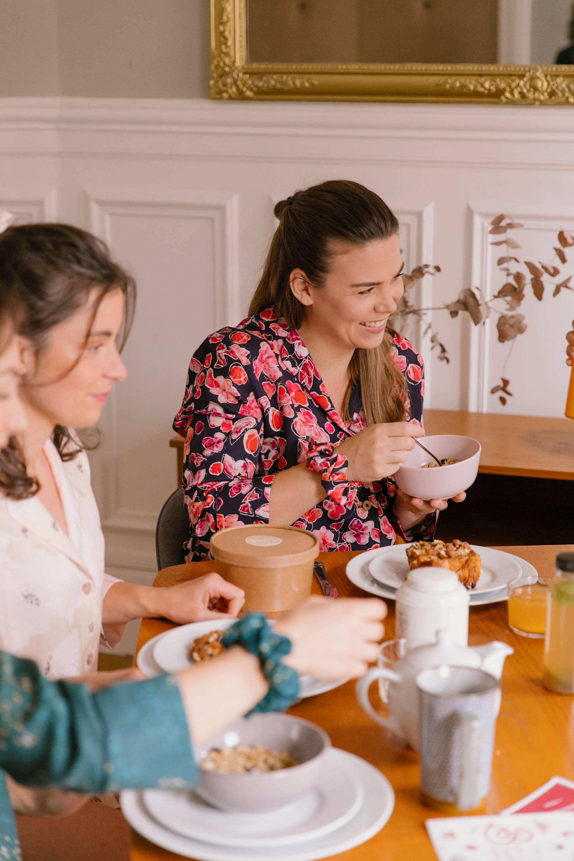 Nêge Paris - Pyjamas de la première collection autour d'un brunch