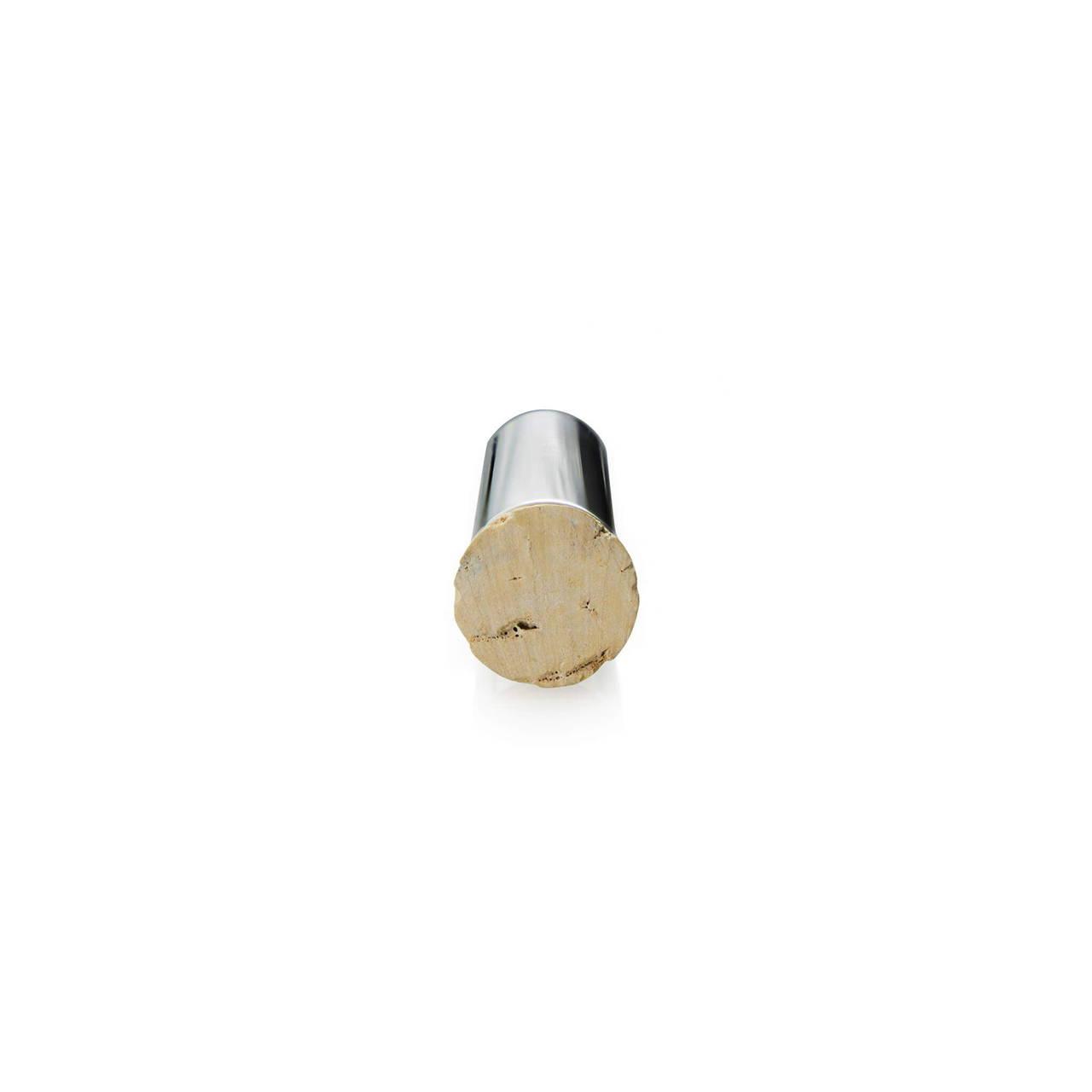 Silver Pill Tube cork detail