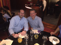 Chris Vallely of TDA and Oleg Tishkevich, who hosted multiple receptions in his massive Bellagio suite.