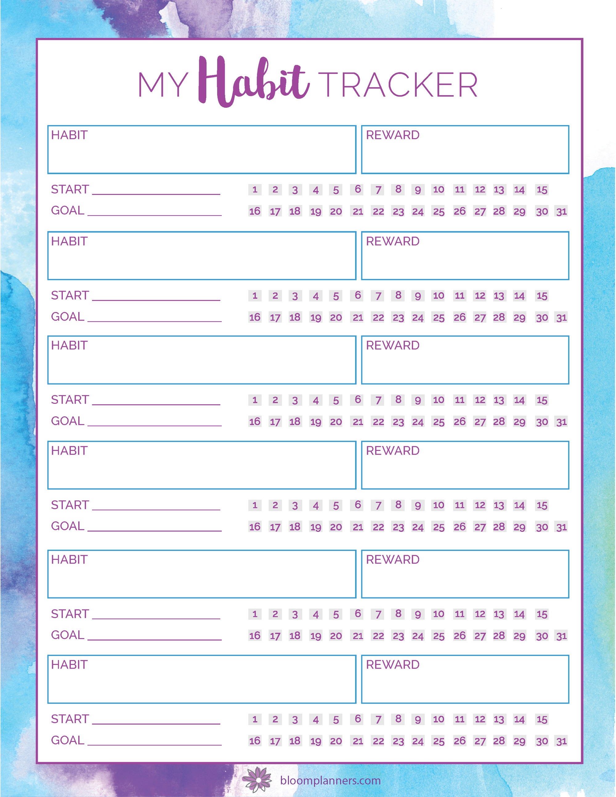 printables bloom daily planners