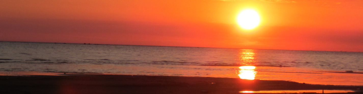Саулкрасти — это тоже берег моря.