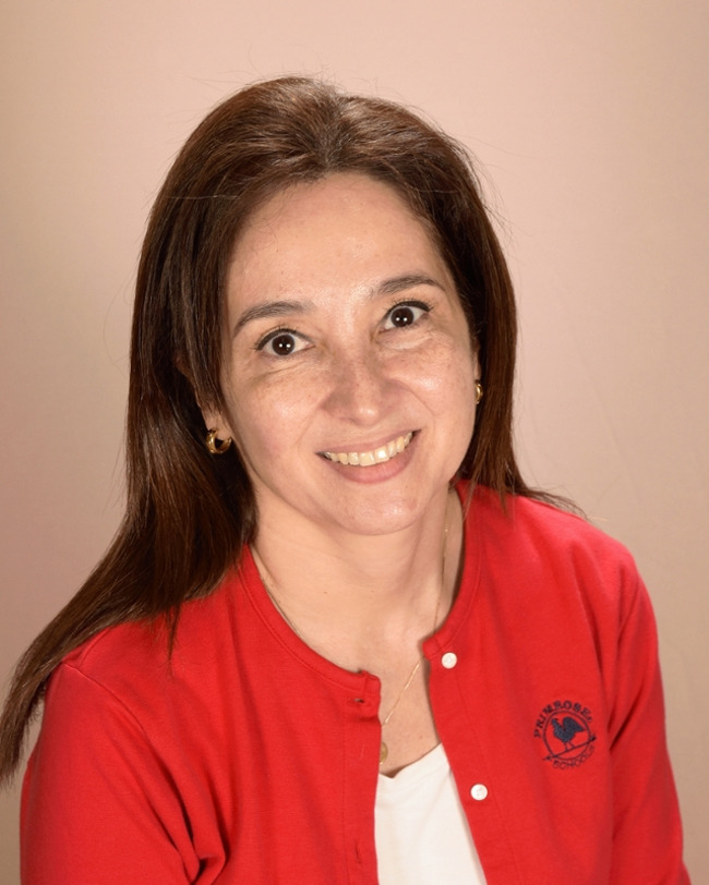 Ms. Martha Sanchez, teacher in the infant classroom at Primrose School of Bridgeland in Cypress, Texas 77433