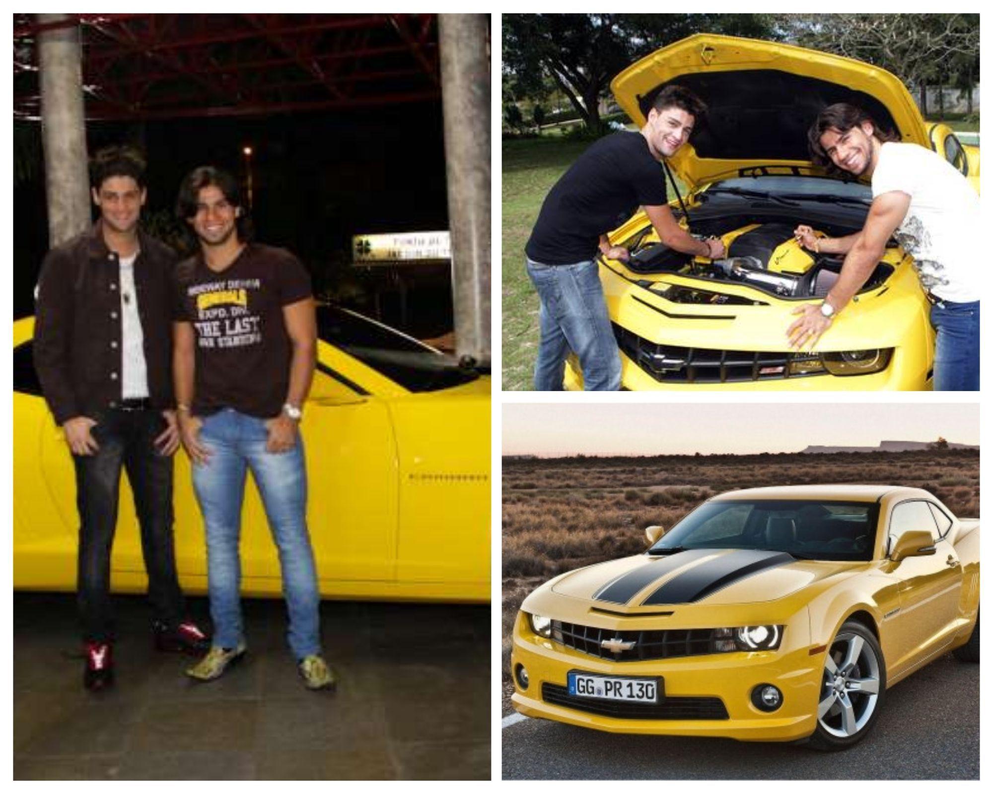 Munhoz e Mariano, com o famoso Camaro Amarelo