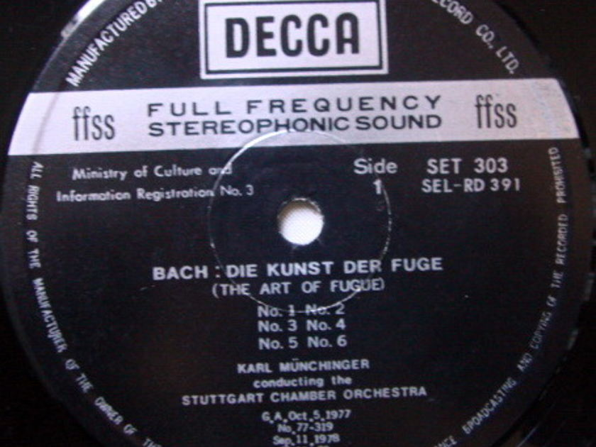 DECCA SET-NB / MUNCHINGER, - Bach Die Kunst der Fuge, NM, 2LP Set!