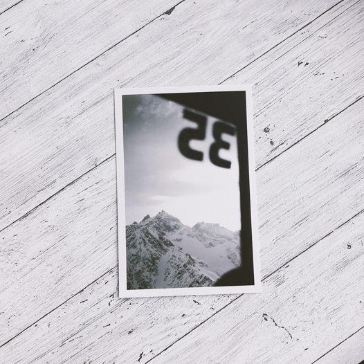 """почтовая открытка с авторской фотографией из серии """"Эльбрус"""""""