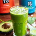 green matcha protein shake