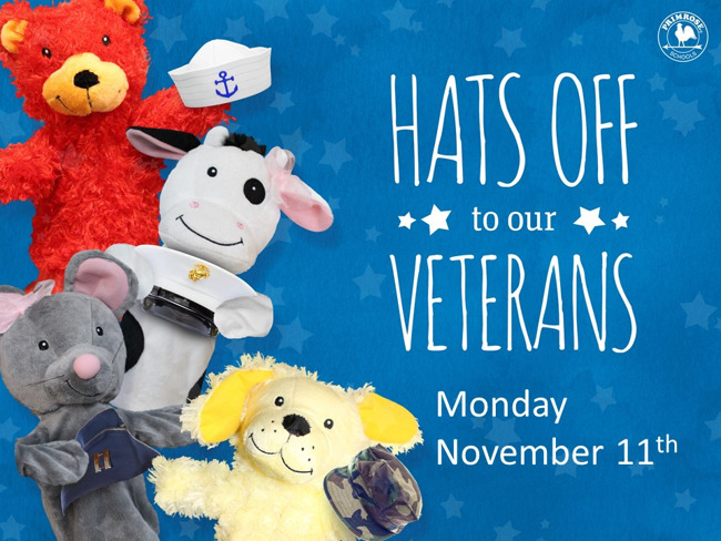 Veterans Day, November 2019, Primrose School at Greenway Plaza