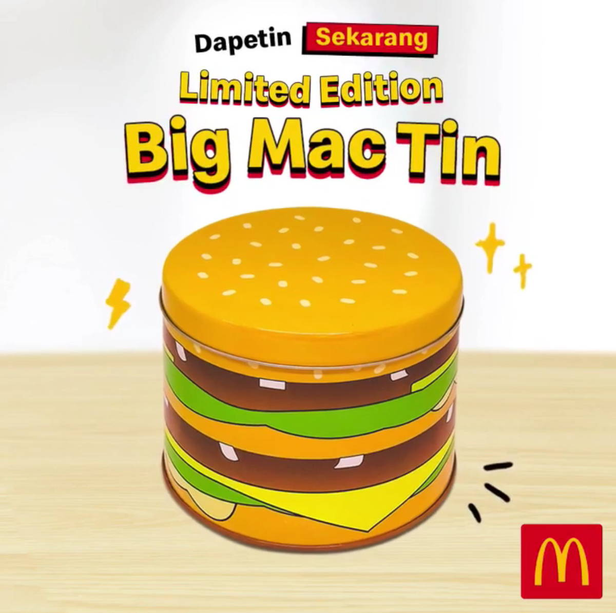 Katalog Promo: McDonalds: PROMO Limited Edition Big Mac Tin! Cukup nambah Rp 12.727 saja dengan di sertai pembelian Paket Hemat Big Mac atau Big Mac McFlavor Set - 1