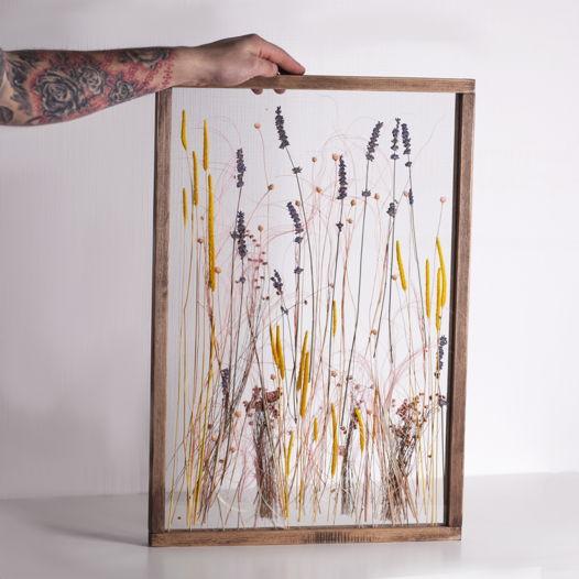 Настенный гербариум в деревянной раме Melyn Flodau
