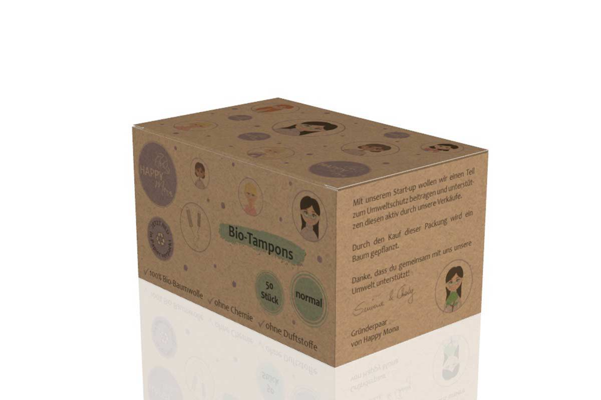 Die Happy Mona Tampons bekommst du in Großpackungen!