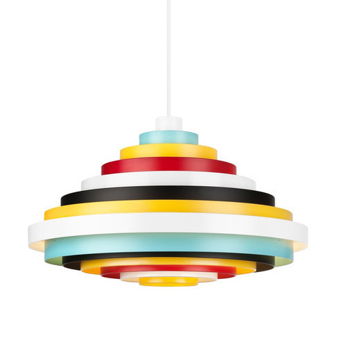 Zero PXL Top Pendant Lamp in colorful color-blocked layers