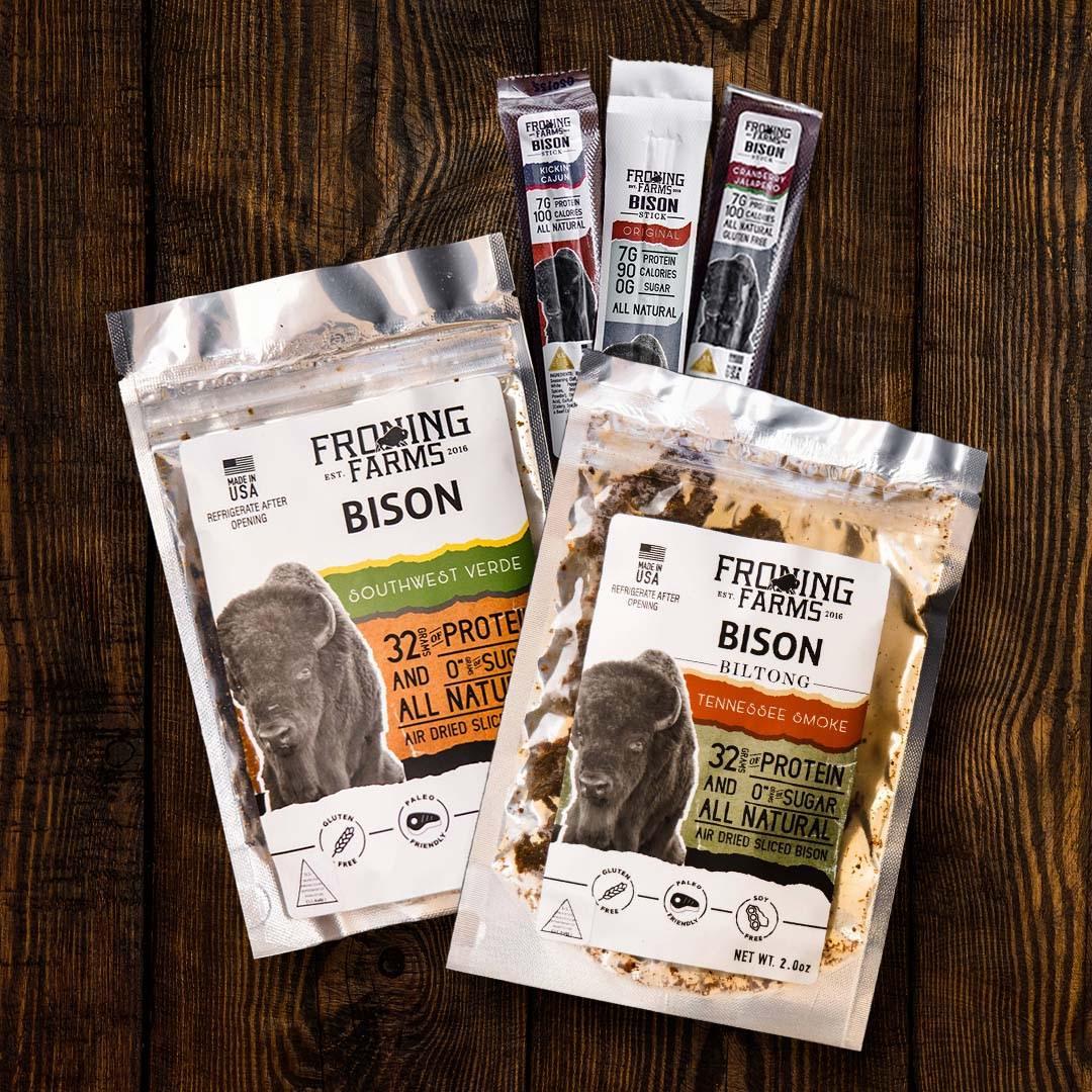 Froning Farms Bison Sticks Original