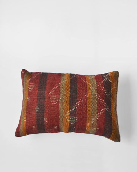 Декоративная подушка из ковра килим Red Brick