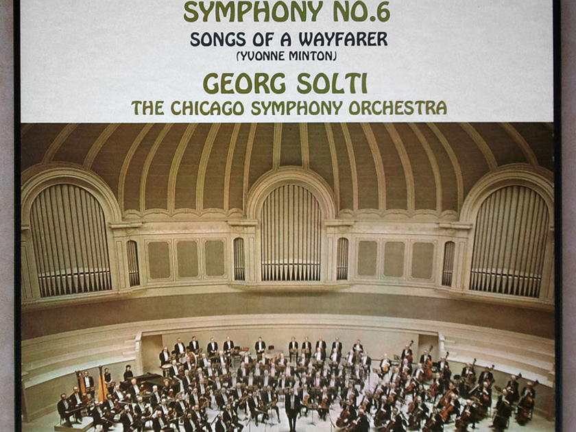 London ffrr/Solti/Mahler - Symphony No. 6, Songs of a Wayfarer / 2-LP / NM