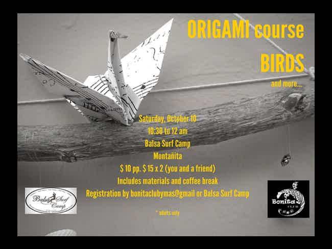 Curso de Origami en Balsa Surf Camp-Montañita