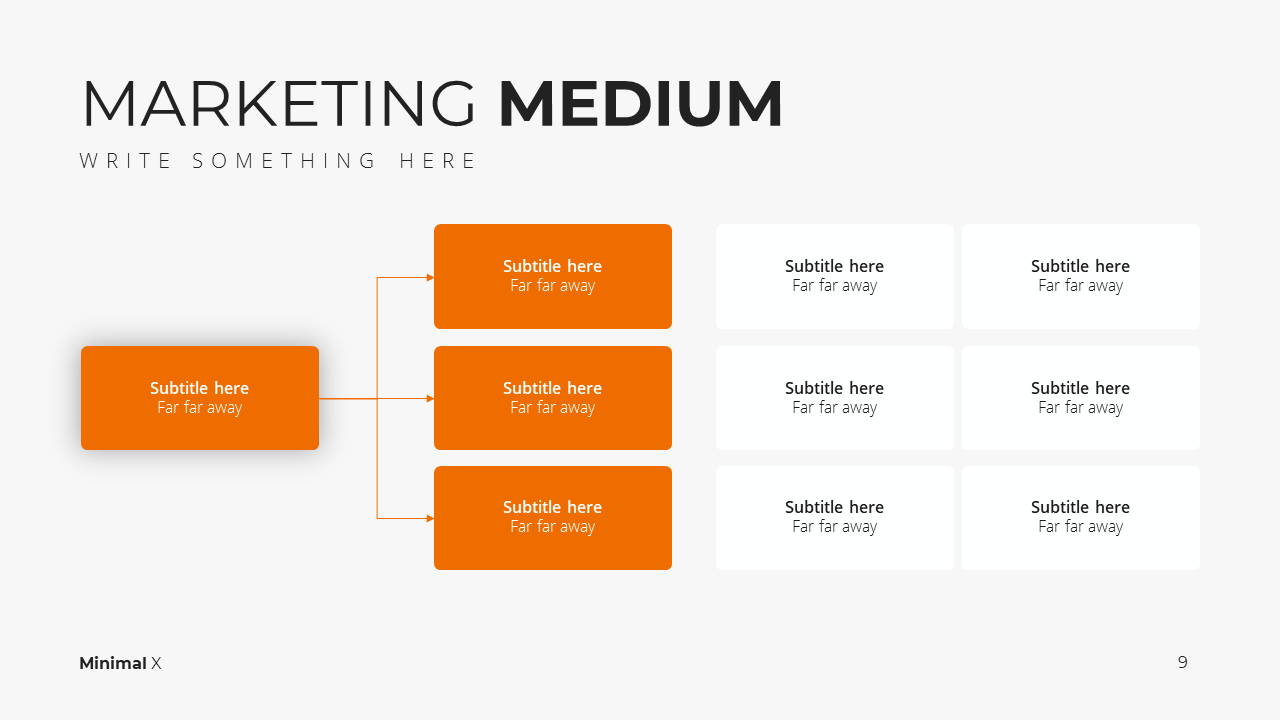 Minimal X  Marketing Plan Presentation Template Marketing Medium