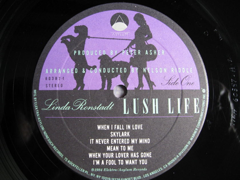Linda Ronstadt, Nelson Riddle And His Orchestra - 'Round Midnight - 1986 Asylum Records  9 60489-1-LR