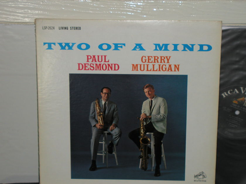 """Paul Desmond/G. Mulligan - """"Two Of A Mind"""" (Pics) Black label RCA LSP 2624 First Issue"""