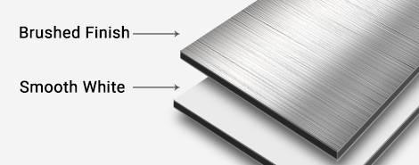 Direct aluminum print surface