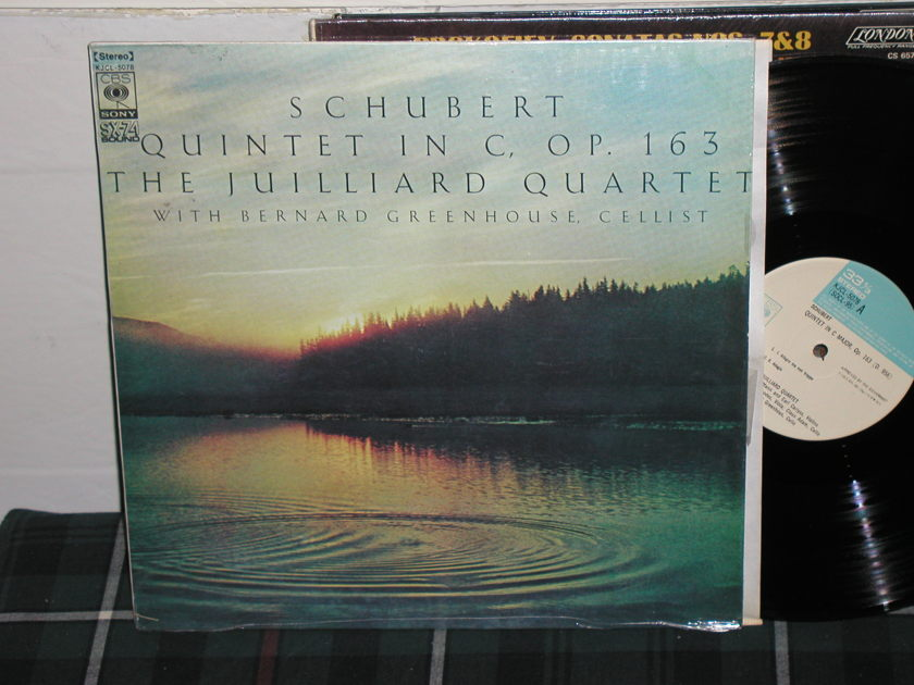 Greenhouse/Juilliard - Schubert Quintet CBS/Sony import LP in shrink.