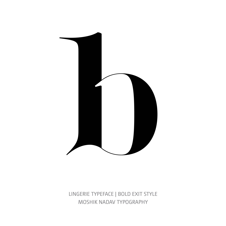 Lingerie Typeface Bold Exit b