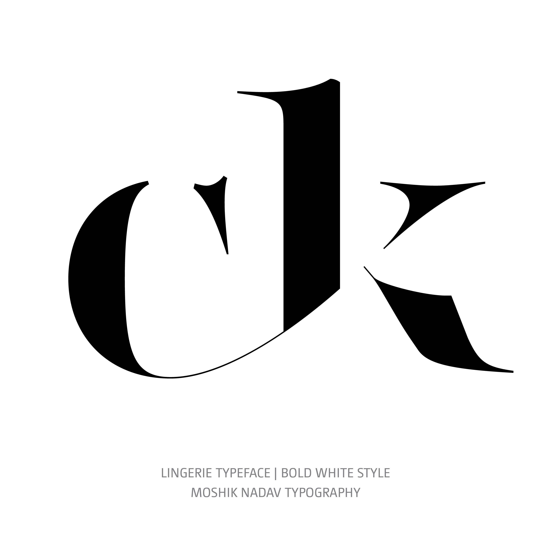 Lingerie Typeface Bold White glyph