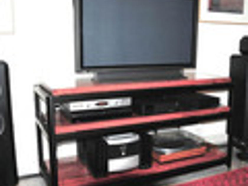 Steve Blinn Designs Gorgeous 3 shelf Super-Wide  Audio Rack, superbly built audiophile reference holds 9 components
