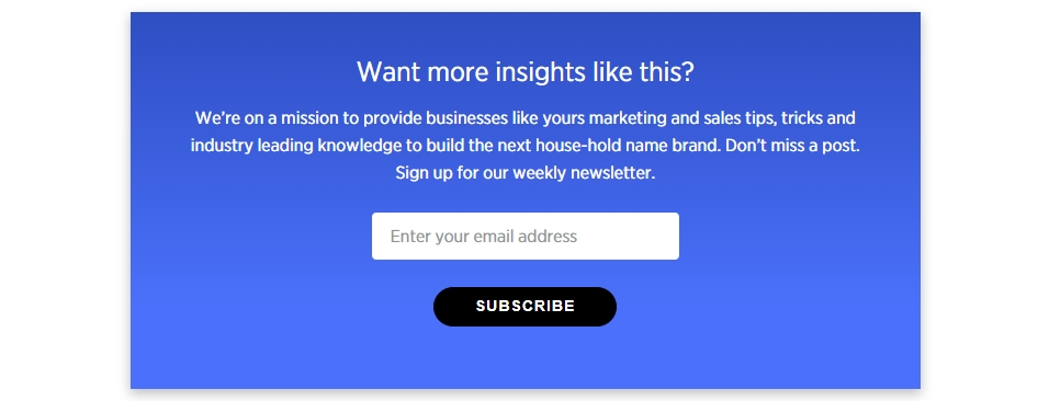 An opt-in form from BigCommerce