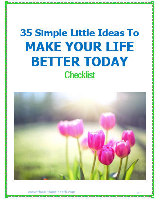 Book cover 35 Simple Little Ideas to Make Your Life Better Checklist.PNG