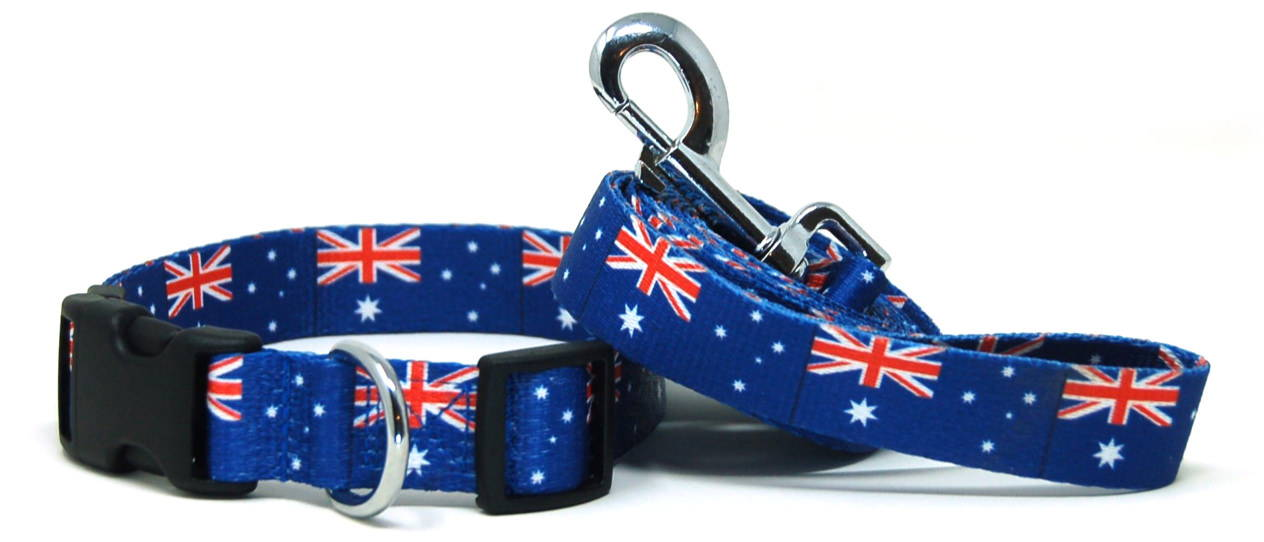Australia dog collar and leash