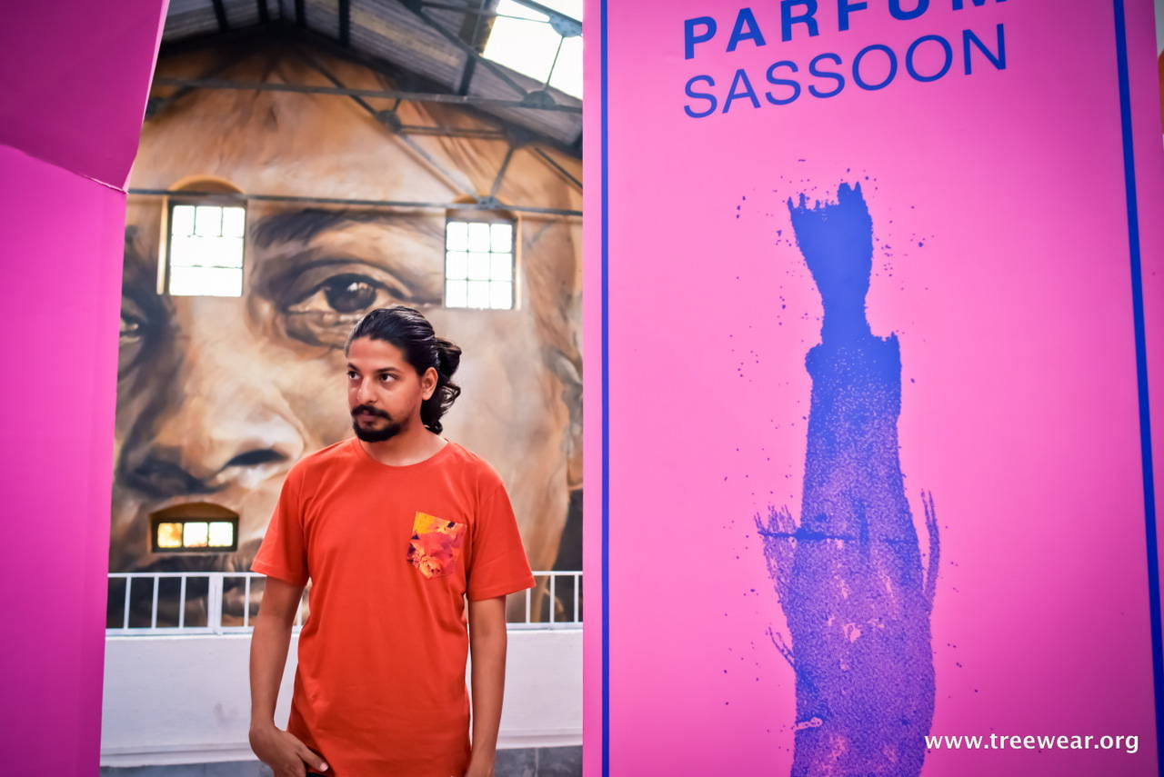 Organic Cotton Pocket T-shirt - Red - Sasoon Dock hero shot