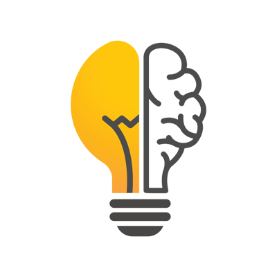 Lightbulb innovation logo