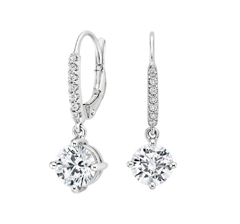 Custom earrings bridal Morganite