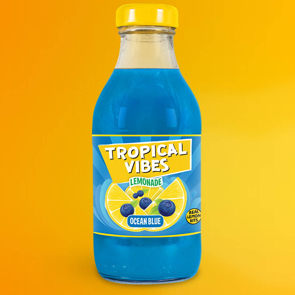 tropical vibes ocean blue lemonade