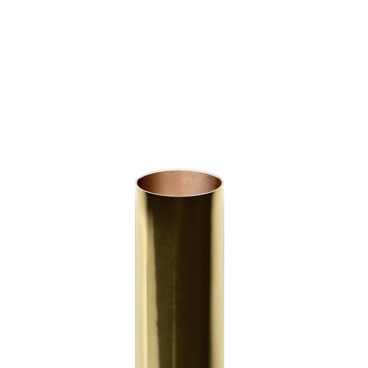 Gold Pill Tube inside copper detail