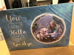 """""""You Were My Favorite Hello and My Hardest Goodbye"""", Dog Memorial Sign"""