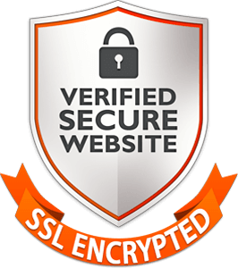 Verified secure website with ssl encryption