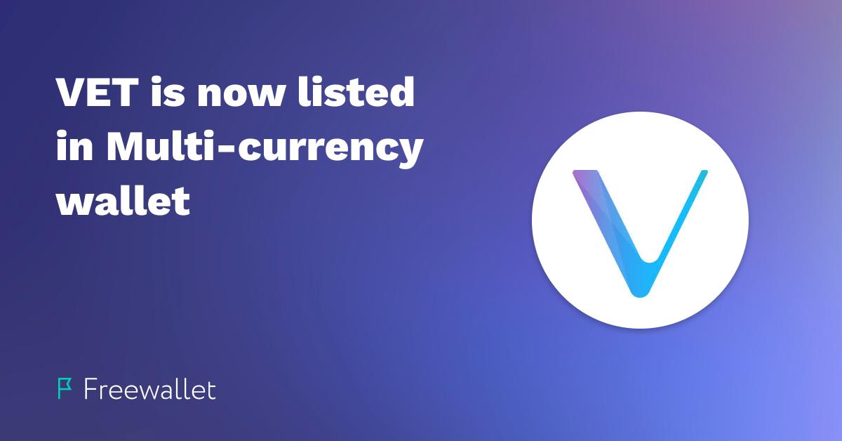 VeChain (VET) now on Freewallet
