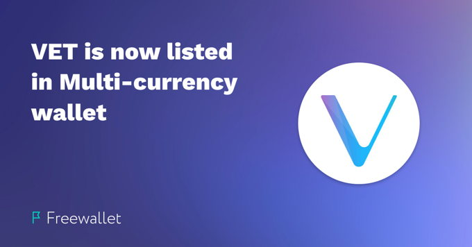VeChain (VET) now on Freewallet | Enjoy VET Wallet on iOS, Android and web