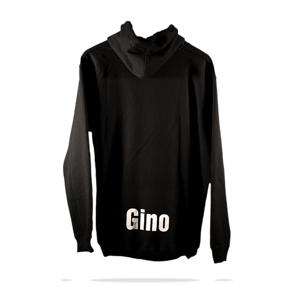 lower Back  printing on black full zip cotton fleece hoodie sweatshirt sj clothing Co Manila Philippines