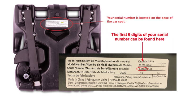 product recall how to locate your serial number