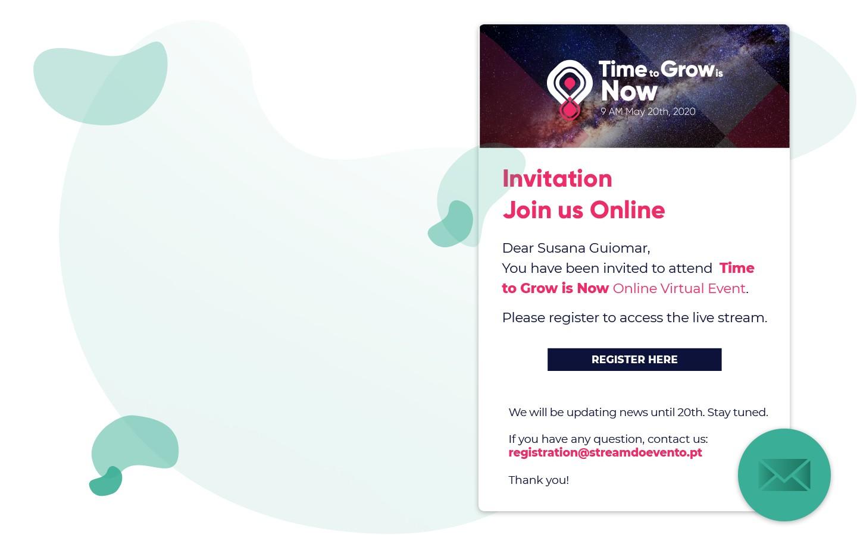 E-mail invitation for events