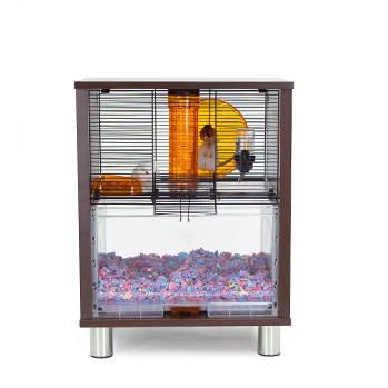 Omlet Qute hamster cage door opened