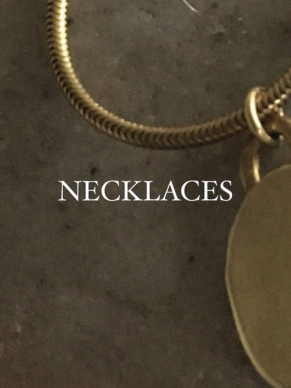 Modern Brass Necklaces and brass jewelry