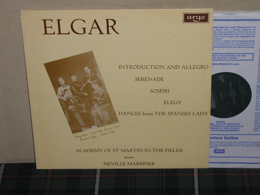 Marriner/AoStMitF - Elgar Introduction And Allegro UK Argo/Decca ZRG-573