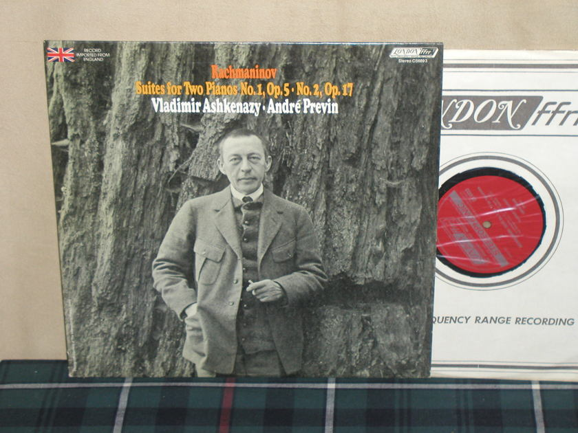 Askenazy/Previn - Rachmaninov Suites for 2 Pianos London CS 6891 UK press