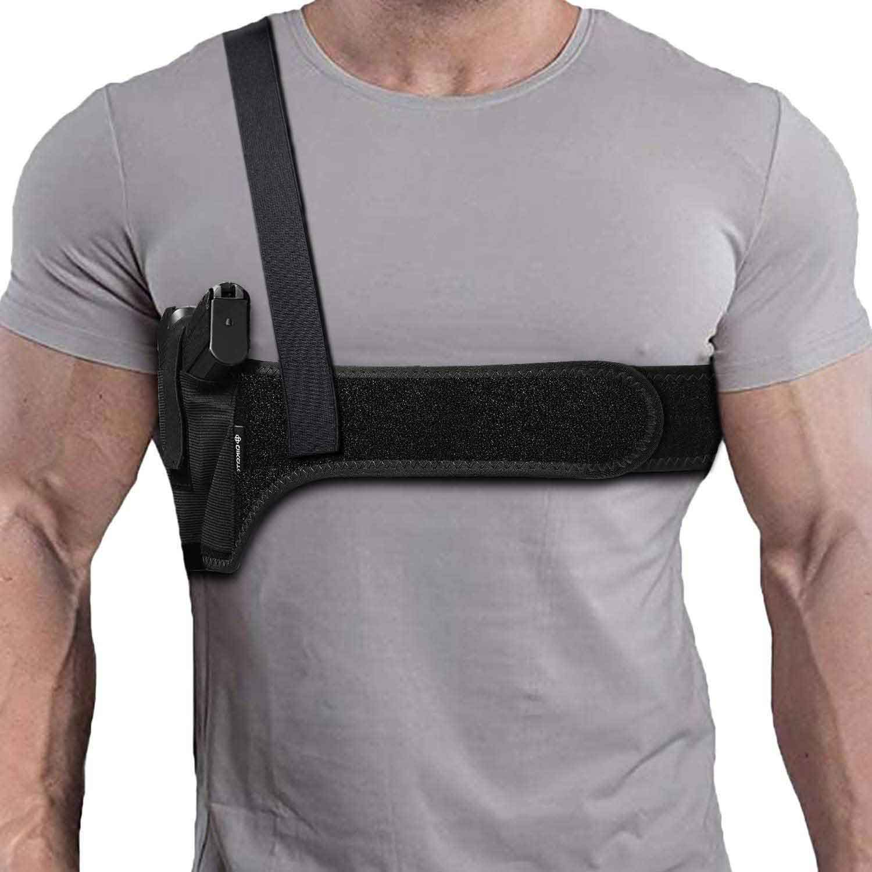 shoulder holster, shoulder belly holster, shoulder holster for fat guy